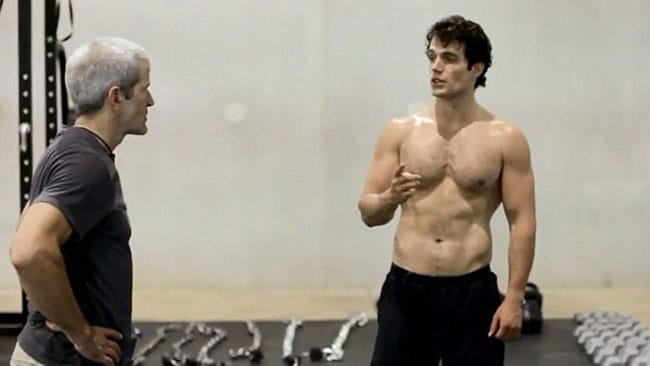 Henry Cavill in his workout video. Picture: Supplied