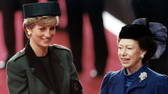 Princess Margaret and Diana had a tense relationship. Photo: Getty