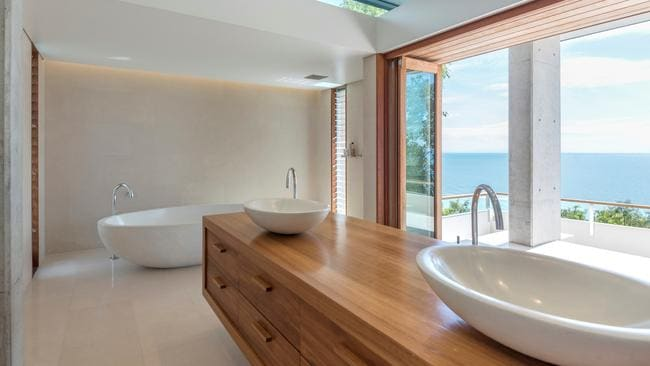 One of the bathrooms in the house at 9 Colonel Cummings Dr, Palm Cove. Photo supplied by Ray White.