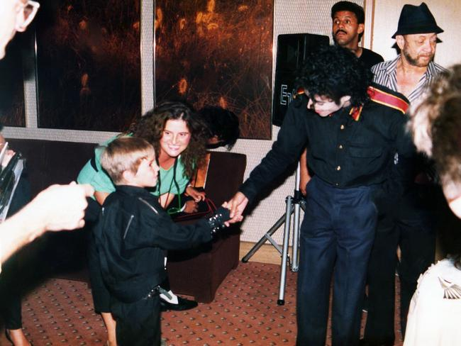Wade Robson meets Michael Jackson for the first time in 1987.