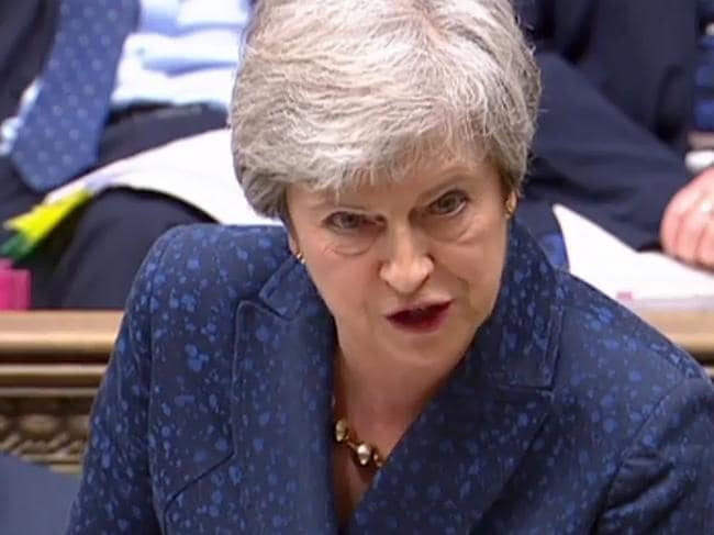 Outgoing UK Prime Minister Theresa May failed three times to get her deal through parliament — and her successor will face an even harder job. Picture: Ho/AFP