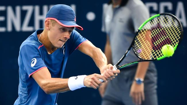 Alex De Minaur rocketed up the rankings in 2018. Picture: AFP