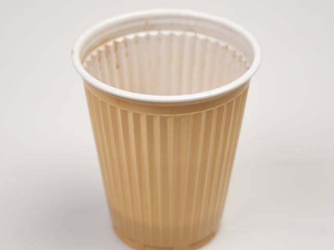 Plastic lined coffee cups would be among the items ousted under the ban.