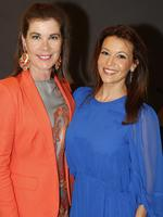 Kylie Lang, of Brisbane, and Sofie Formica, of St Lucia, at the Y Women lunch for Youngcare. Picture: Just Photography