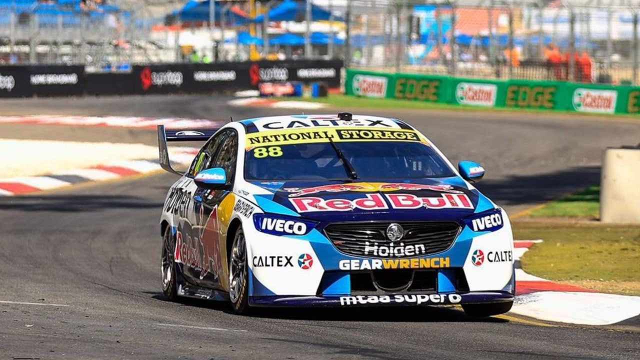 Jamie Whincup was on a tear after starting from pole.