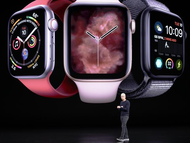 The new Apple Watch was also debuted. Picture: AP