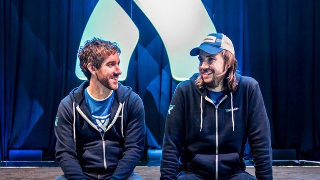 Atlassian co-founders Scott Farquhar and Mike Cannon-Brookes. Source: Supplied