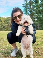 Natasha Stevens and her dog Miffy Stevens enjoying a Sunday adventure day at Kuipto Forest. Picture: Joel Minear-Kulpinski