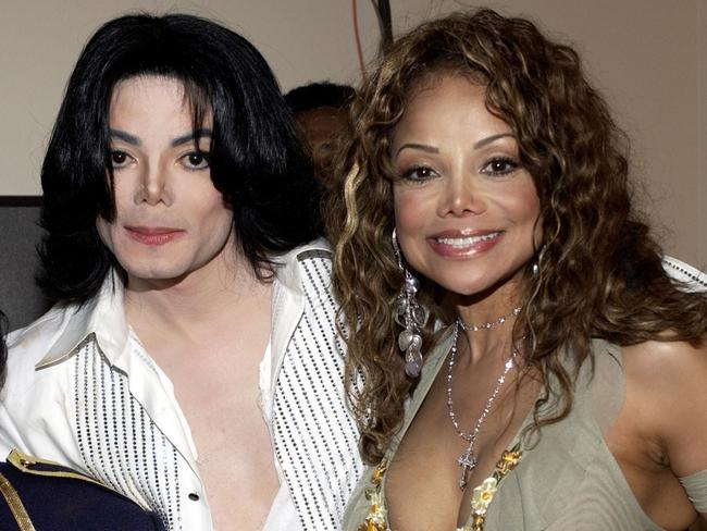 Michael Jackson and sister La Toya in 2003. Picture: Lester Cohen