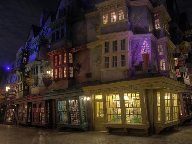 Fantasy and reality. When you are finished visiting the The Wizarding World of Harry Potters Diagon Alley at Universal Orlando you could head to the real downtown. Picture: James Kilby/Universal Orlando Resort/ Getty Images)