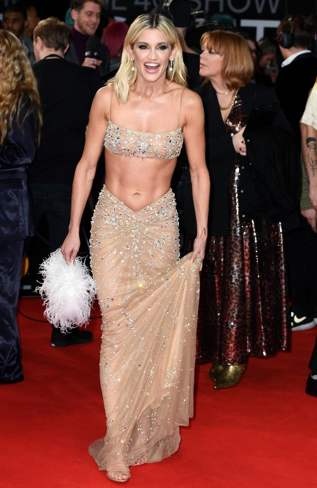 Ashley Roberts showing beauty is pain at the 2020 Brit Awards in London. Picture: Gareth Cattermole/Getty Images