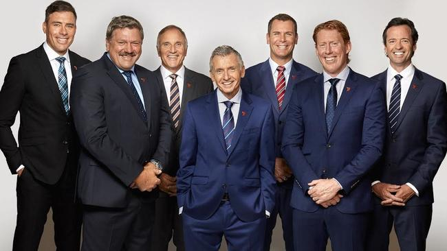 Channel Seven AFL commentary team. Pic: Twitter