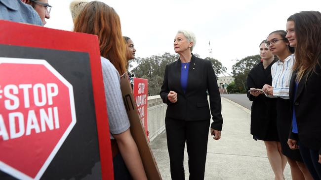 Dr Kerryn Phelps spoke with the students. Picture: Gary Ramage