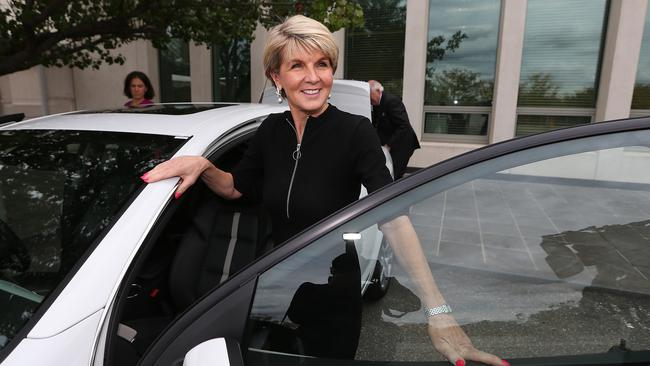 With the departure from parliament of Julie Bishop, the Liberals are lacking a female heavy hitter who can connect with the public. Picture: Kym Smith