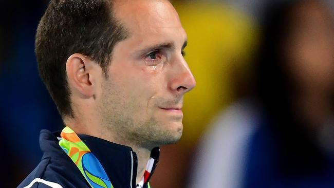 Lavillenie was driven to tears on the podium.