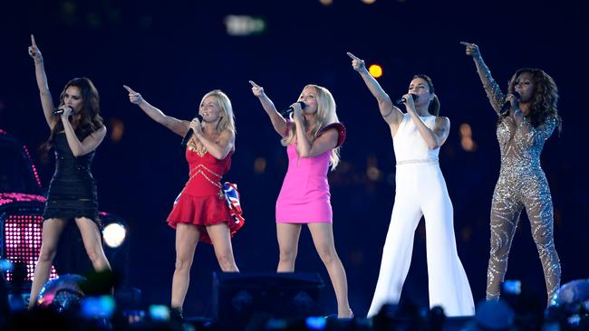 The last time all five Spice Girls performed together was the closing ceremony of the 2012 London Olympics. Picture: Getty