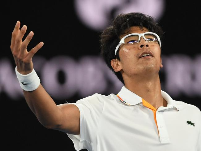 Chung is the first Korean quarter finalist of a grand slam. (AAP Image/Lukas Coch)