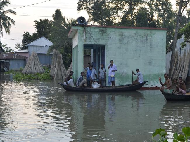 More than 24 million people have been affected by some of the worst flooding to hit South Asia in decades, with large areas of land submerged in water. Picture: AFP.