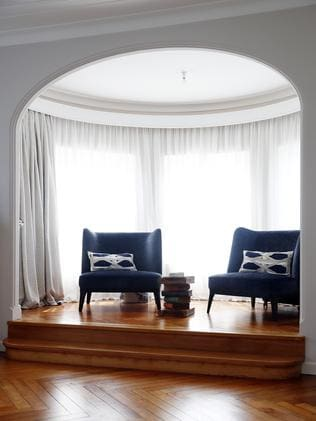 Sitting room in the master bedroom. Picture: Sam Ruttyn