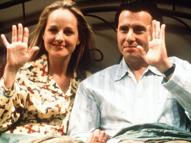 Helen Hunt and Paul Reiser the final episode of Mad About You in 1999.