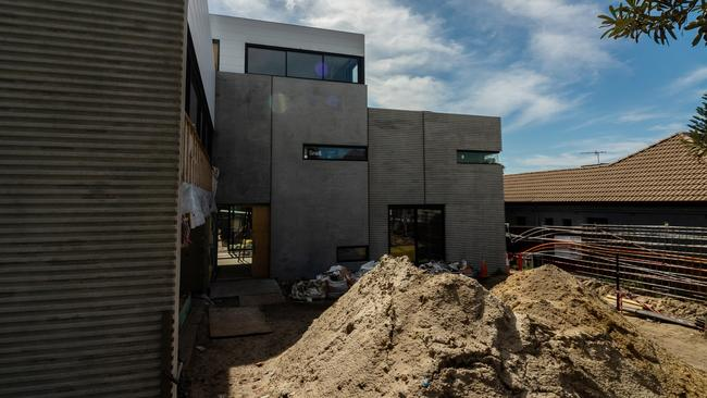 The home caused some controversies during construction. Picture: Jake Breed