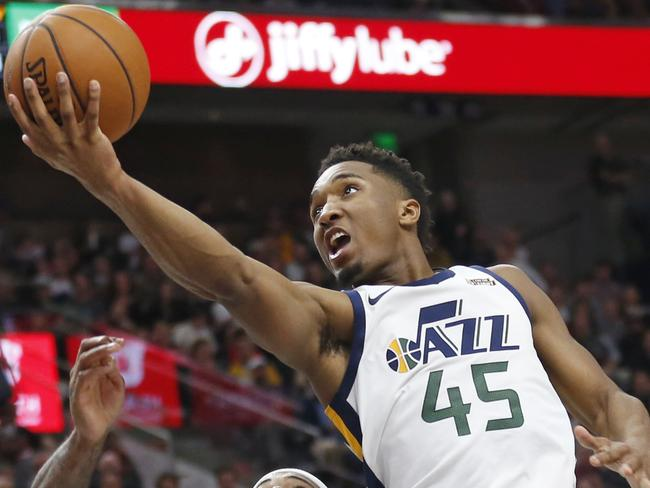 Utah Jazz rookie guard Donovan Mitchell.