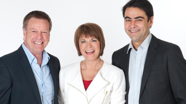 Mark Aiston, Jane Reilly and David Penberthy — FIVEaa Breakfast Show 2014 —