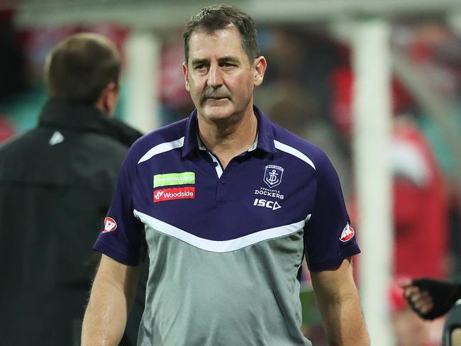 Fremantle coach Ross Lyon praised the luckless star.