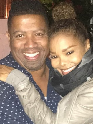 Eric Smith pictured with Janet Jackson.