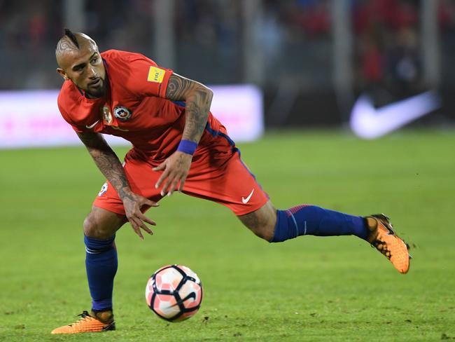 Chile's Arturo Vidal.
