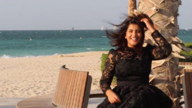 Loujain Al-Hathloul has been in custody for one year for advocating women's rights. Source: Supplied