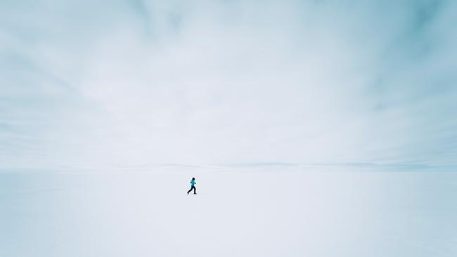 'I'm running the equivalent of five marathons on the snow and ice.' Mina Guli in Antarctica.