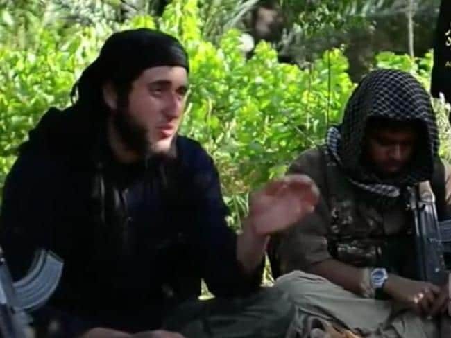 Abu Yahya ash Shami, identified as Australian, in an ISIS recruitment video from June.