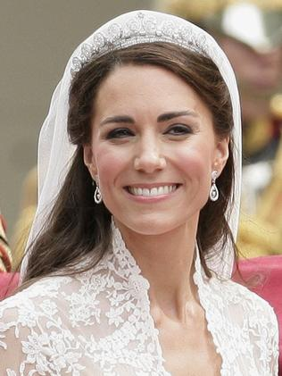 Kate wore the Cartier halo scroll tiara