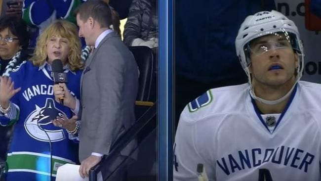 Bartkowski's mum was gushing after her son scored a goal.