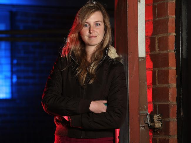 Second year medical student ... Jessica Ellis, was living in poverty relying on food and clothing handouts and sleeping in cars after her mum was diagnosed with MS and was unable to work. Picture: Gary Ramage