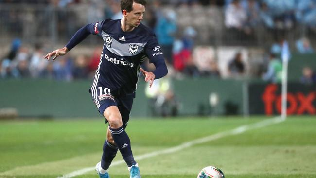 Robbie Kruse returned to the pitch for Melbourne Victory.