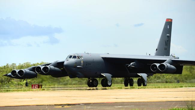 Powerful ... A United States Air Force B-52 bomber. Picture: Michael Franchi