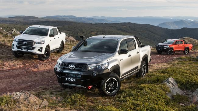 Toyota's HiLux is the undoubted showroom star. Picture: Supplied.