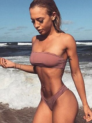 Tammy Hembrow has been seen wearing Rebecca's bikini designs in the past. Picture: Instagram/TammyHembrow