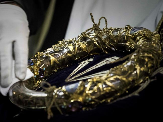 The Crown of Thorns was spared in the fire. Picture: Philippe Lopez/AFP