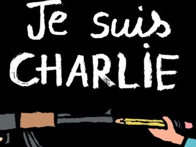 Provocative ... the response to the Charlie Hebdo shooting. Jean Jullien via Twitter
