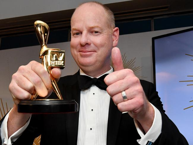 Tom Gleeson taking out the Gold Logie was considered inoffensive by most people, despite his female colleagues' hard work being totally snubbed. Picture: Darren England/AAP