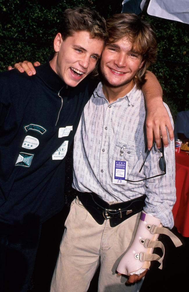 1980s teen idols Corey Haim (left) and Corey Feldman were allegedly targeted by a Hollywood paedophile ring. Picture: Time Life Pictures/DMI/The LIFE Picture Collection/Getty ImagesSource: Getty Images