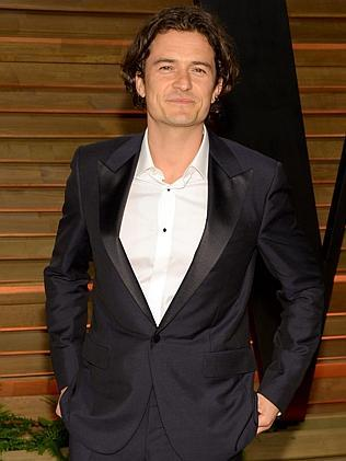 Orlando Bloom looked pretty pleased with himself. Picture: AP