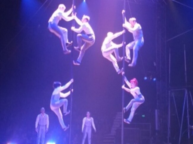 Trapeze performers at Circus Oz in Melbourne.
