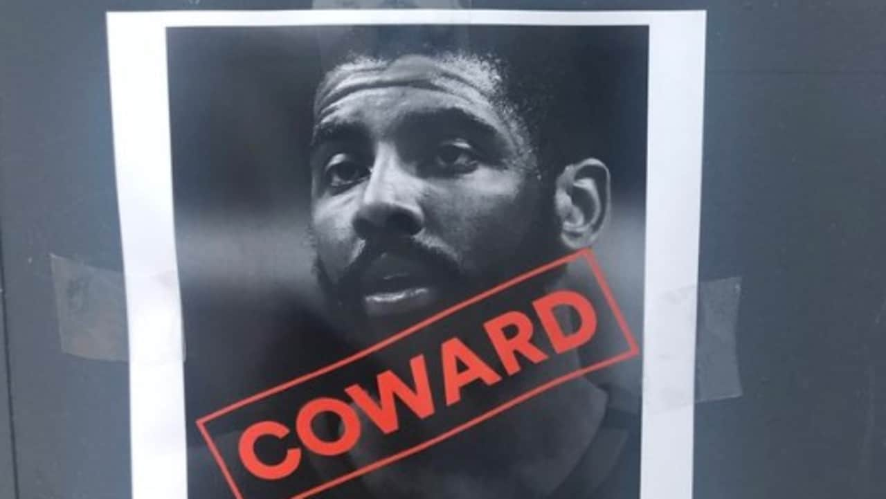 Kyrie Irving branded a 'coward' in Boston.