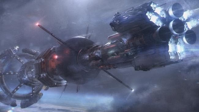 Concept art released by the Syfy channel depicts the ship at the centre of George R.R. Martin's novella Nightflyer, which is to be turned into a television series.