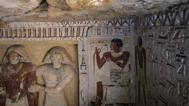 Egypt has been keen to promote new archaeological finds since tourist numbers dwindled after the 2011 uprising. Picture: Khaled Desouki / AFP.