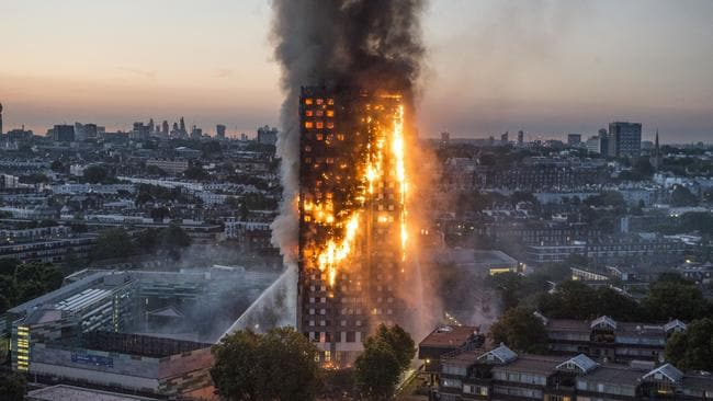 Cladding had been attached to the Grenfell Tower in a recent refurbishment. Picture: Jeremy Selwyn / Evening Standard